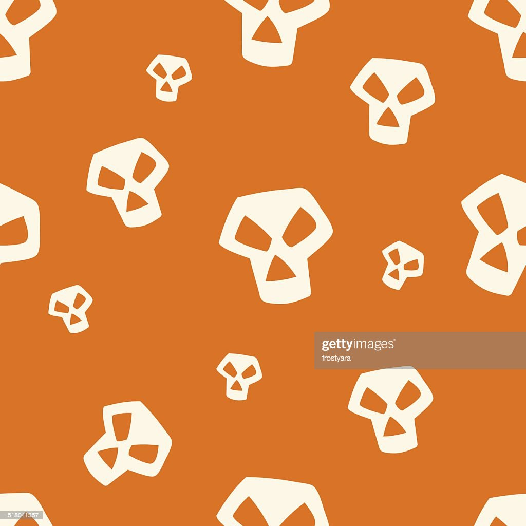 Orange Skull Pattern Small
