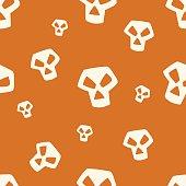 Orange Skull Pattern Small