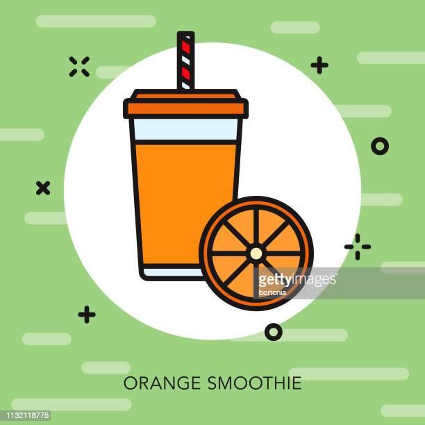 orange smoothie icon - fruit juice stock illustrations, clip art, cartoons, & icons