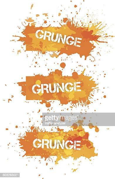 Orange splashes