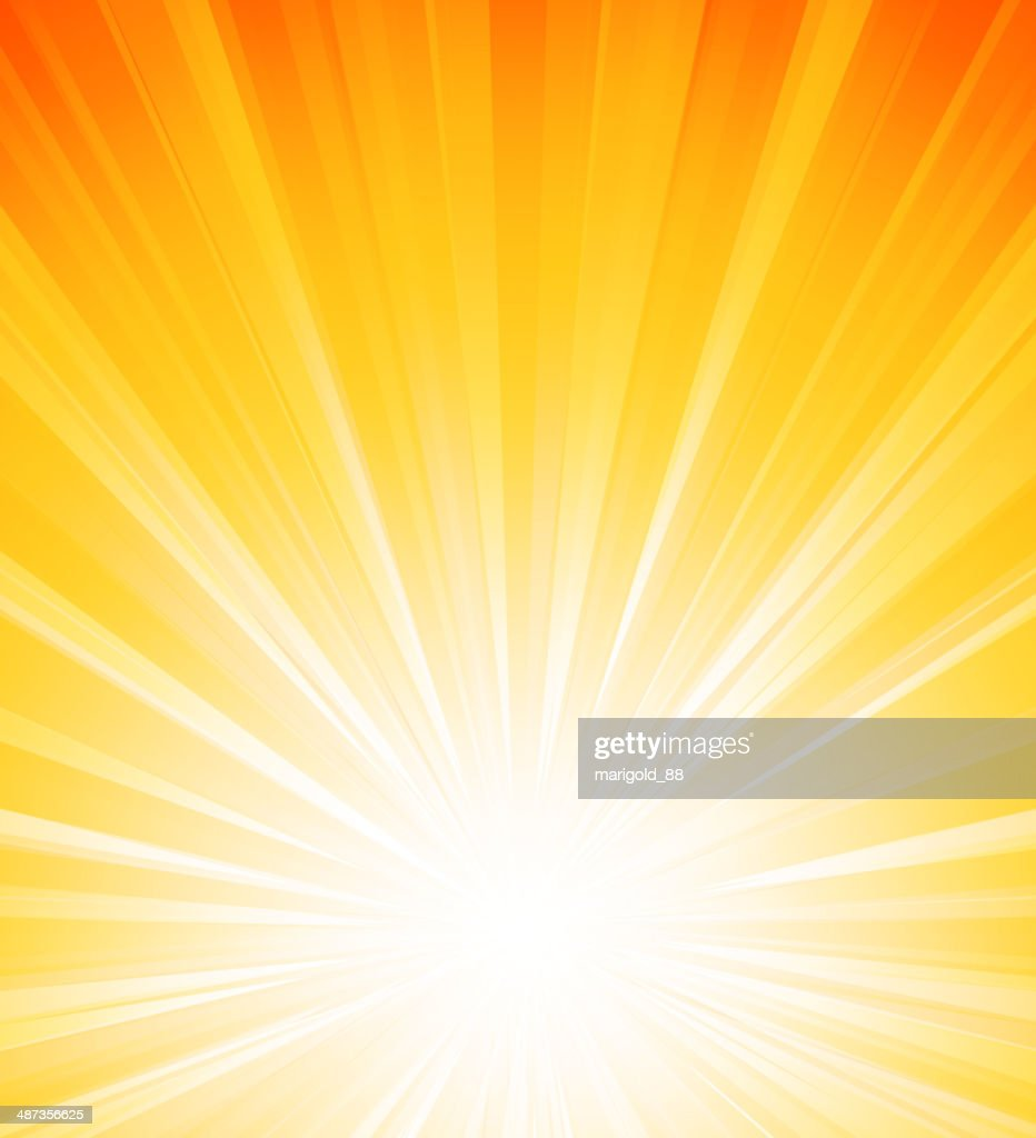 Orange summer sun light burst