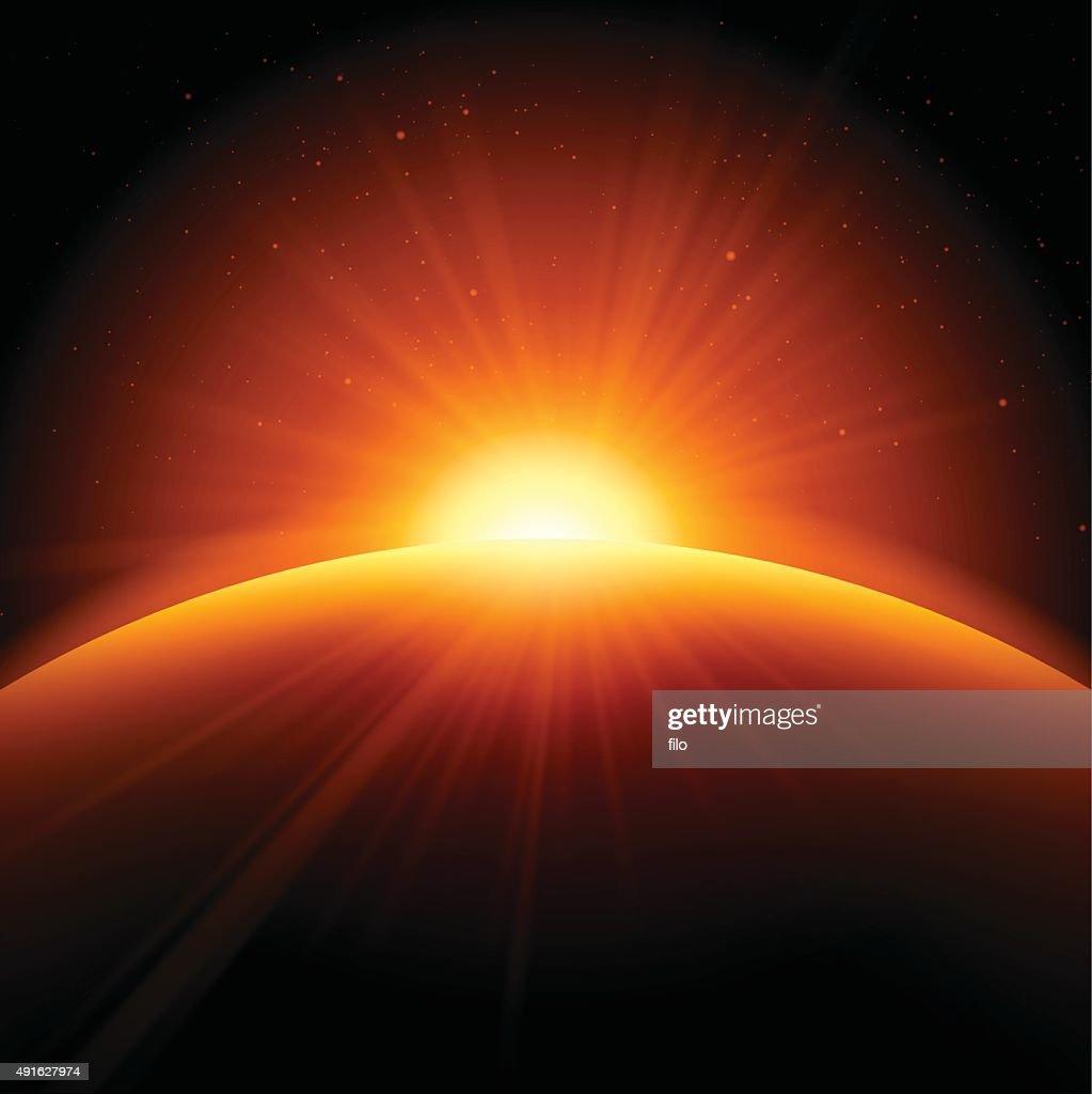 """Orange Abstract Background Sunrise Sunset """" : Stock-Illustration"""