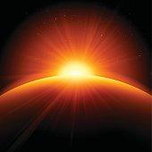 Orange Sunrise Sunset Abstract Background