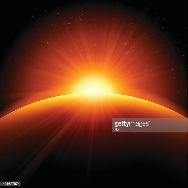 Orange Sunrise Sunset Abstract Background