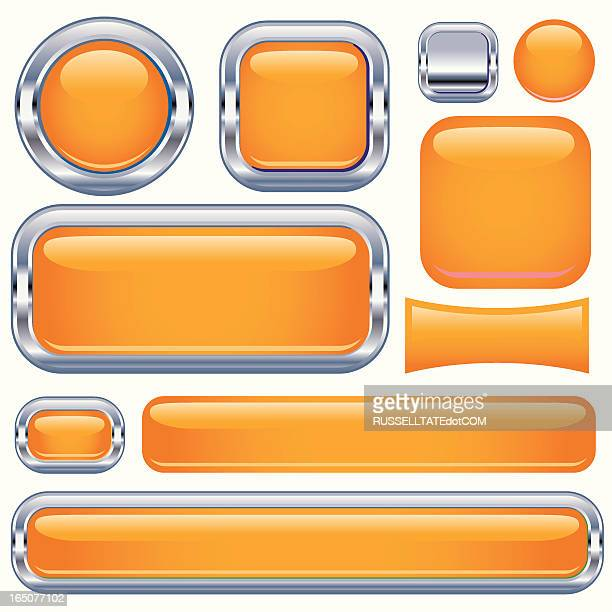 Orange Super Gloss Rectangles