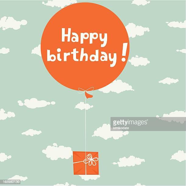 orange surprise - birthday stock illustrations