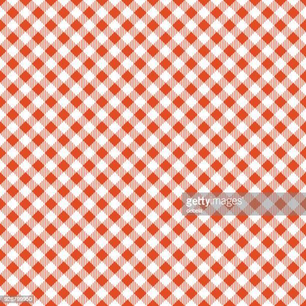 オレンジ色のテーブル クロス アーガイル柄 - ギンガムチェック点のイラスト素材/クリップアート素材/マンガ素材/アイコン素材