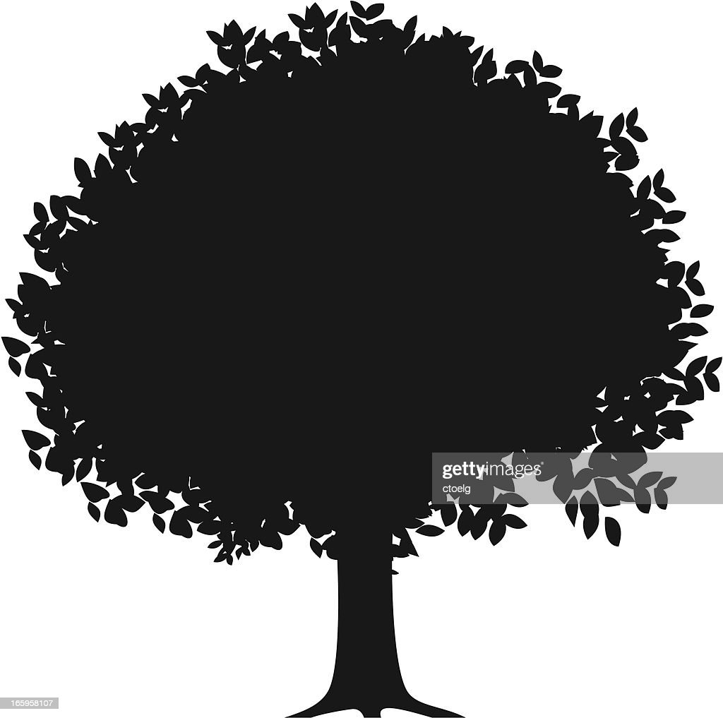 orange tree silhouette