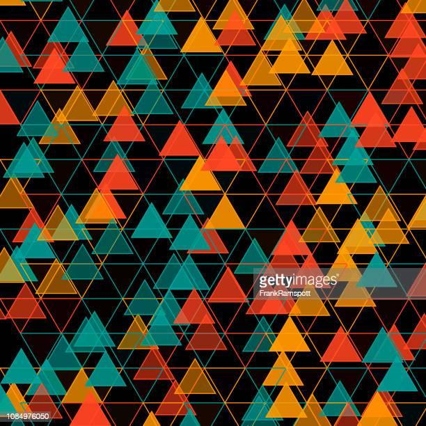 Orangefarbenes Dreieck-Vektor-Design-Pattern