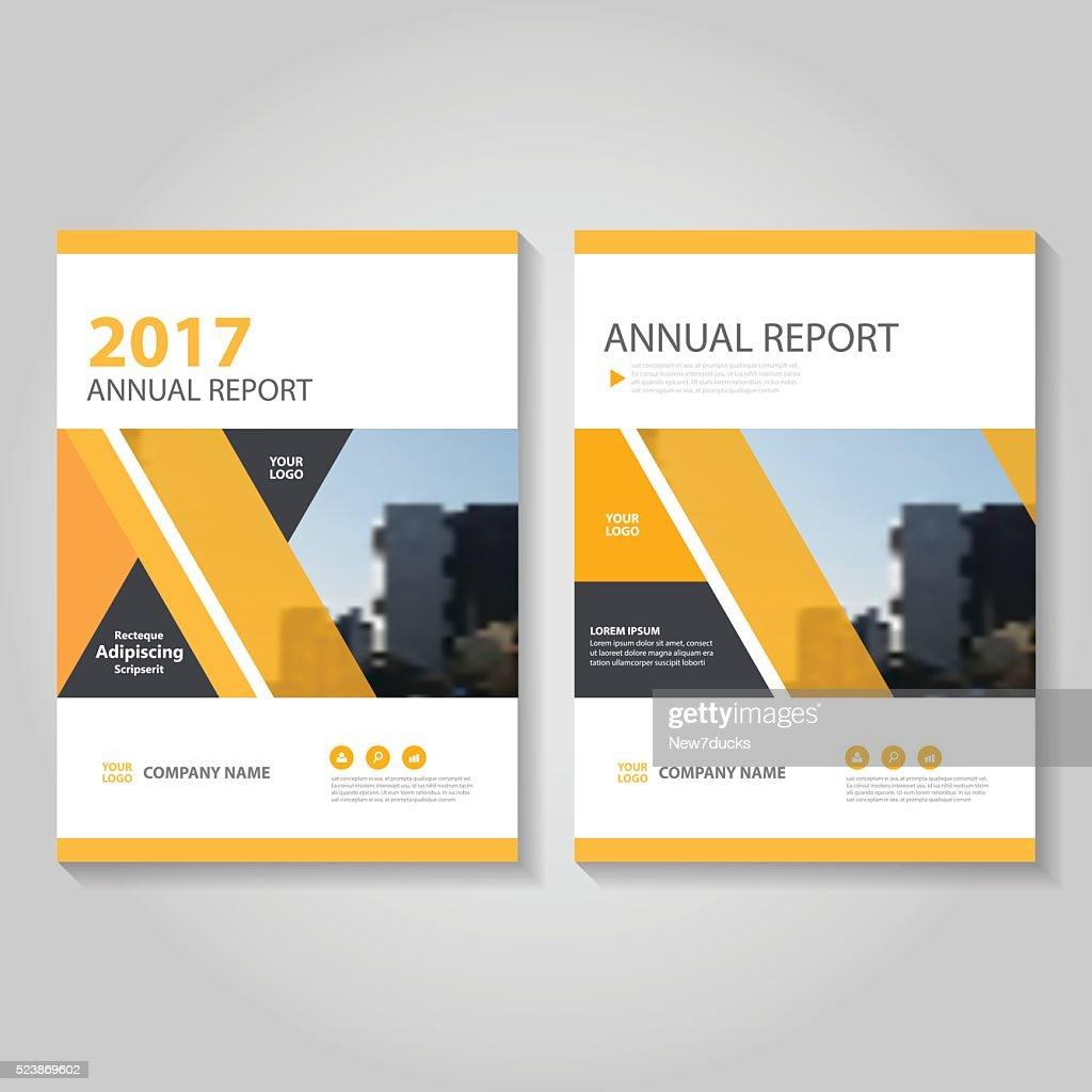 Orange Vector annual report Leaflet Brochure Flyer template design set
