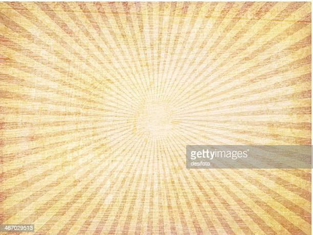 Orange vector grunge sunbeam starburst background
