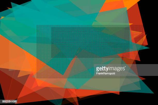 Orange Vektor Polygon Design Pattern Horizontal