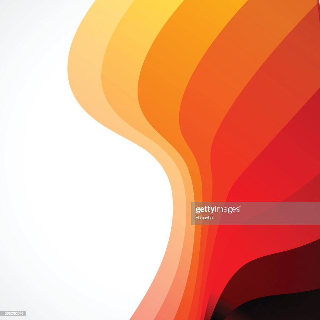 Orange Wave Gradient Stripe Pattern Background stock illustration
