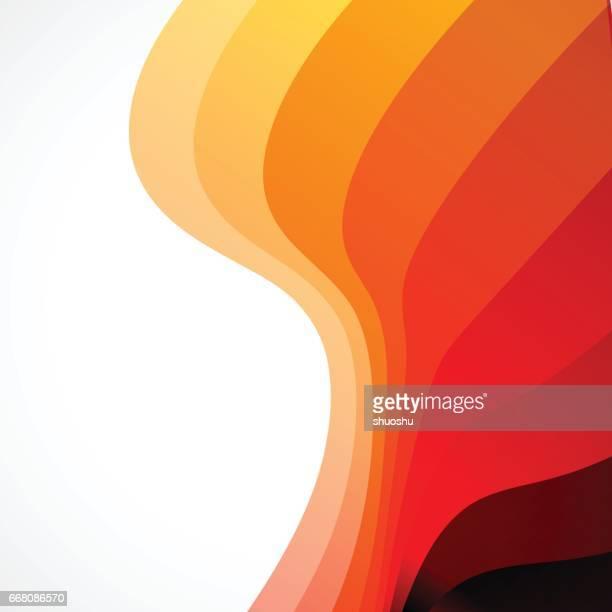 Oranje Golf kleurovergang stripe patroon achtergrond