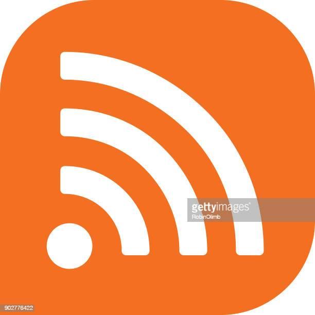 ilustrações, clipart, desenhos animados e ícones de ícone sem fio laranja - tecnologia sem fio