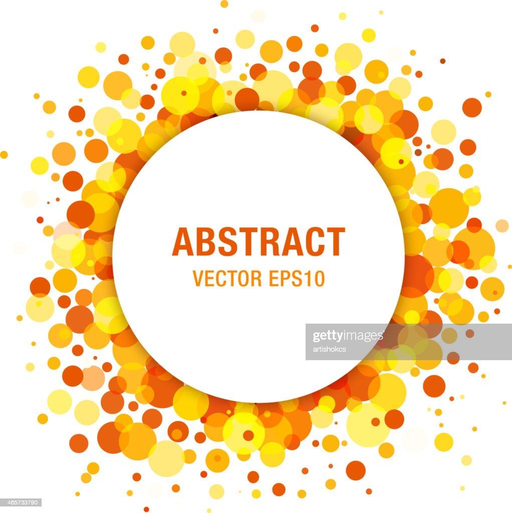 Orange - Yellow Bright Spring Abstract Circle Frame Design Element