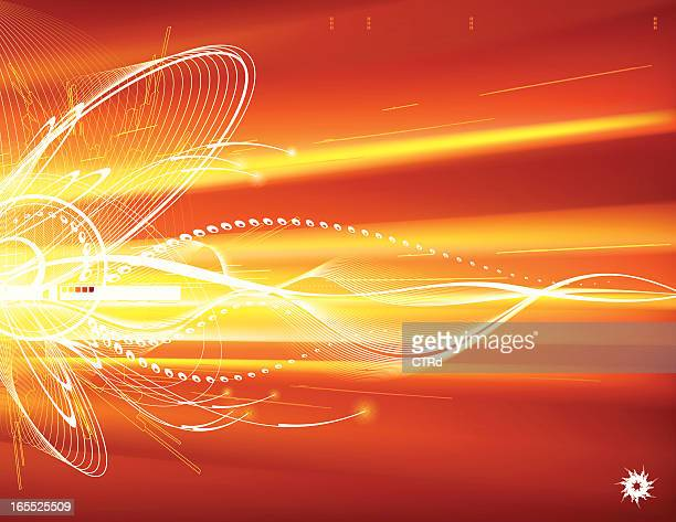 Orange-toned abstract background with motion-blurred element