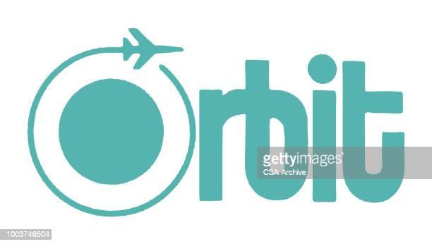 orbit - orbiting stock illustrations
