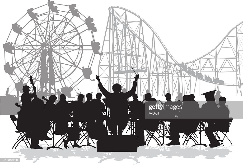 Orchestra At The Fair : stock illustration