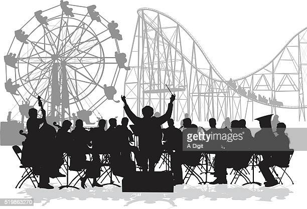 orchestra at the fair - orchestra stock illustrations, clip art, cartoons, & icons