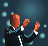 Orchestra Conductor Conducting Clasical Music