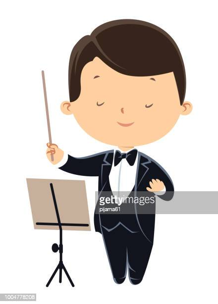 orchestra director - dressing up stock illustrations