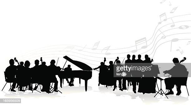 orchestra - classical stock illustrations