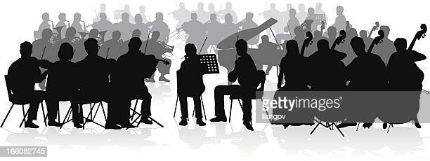 orchestra - orchestra stock illustrations, clip art, cartoons, & icons
