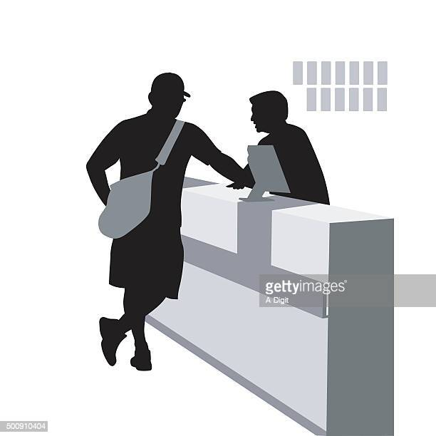 order desk - checkout stock illustrations, clip art, cartoons, & icons