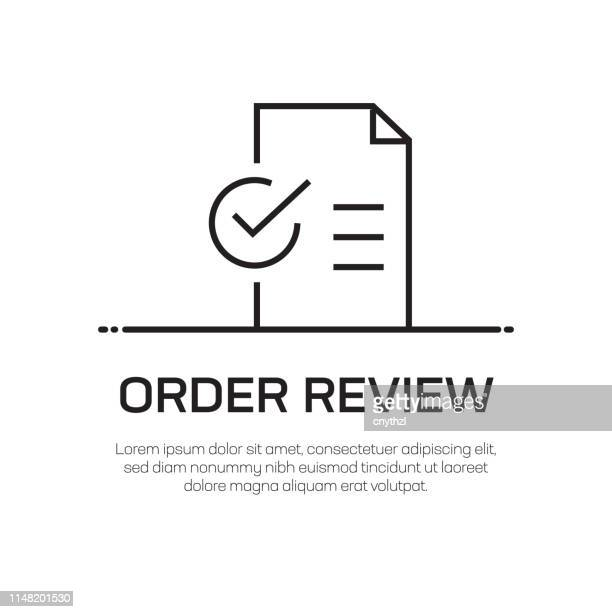 order review vector line icon - simple thin line icon, premium quality design element - order stock illustrations, clip art, cartoons, & icons