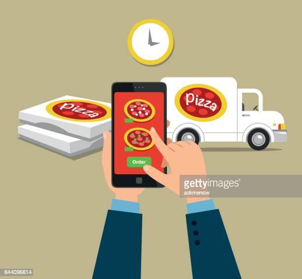 Ordering pizza online