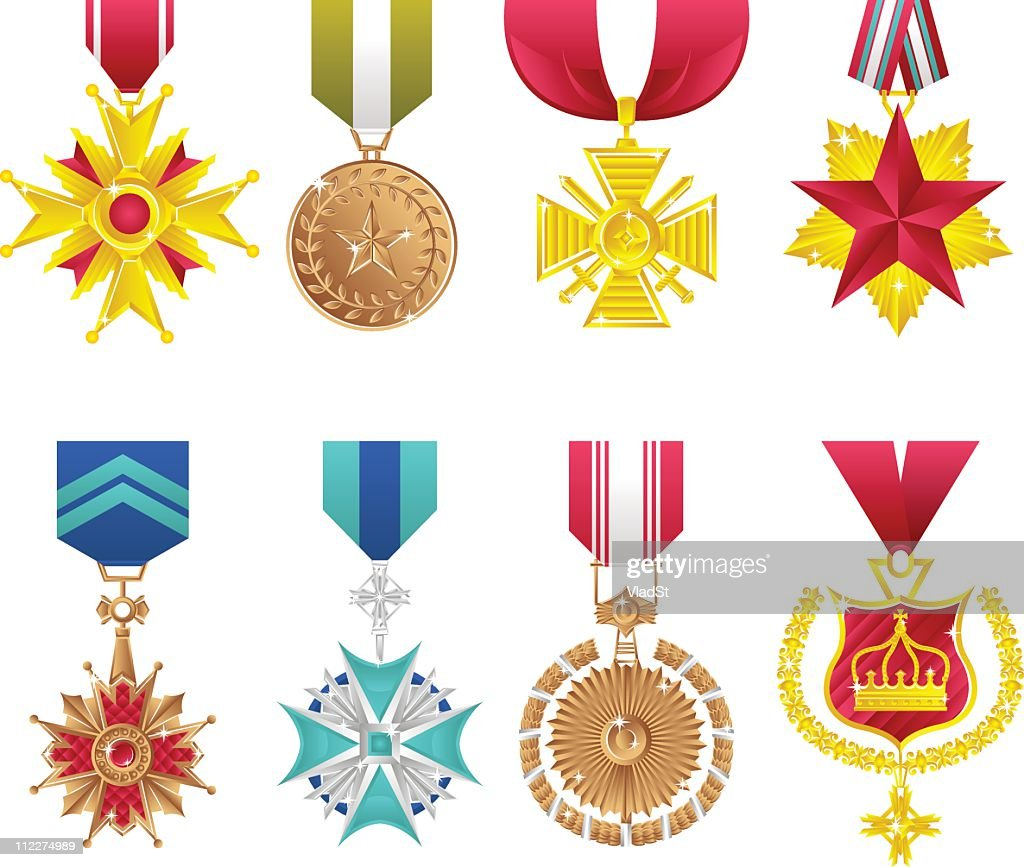 Orders and honours : stock illustration