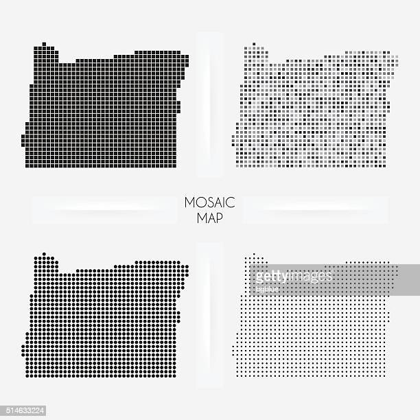 Oregon maps - Mosaic squarred and dotted