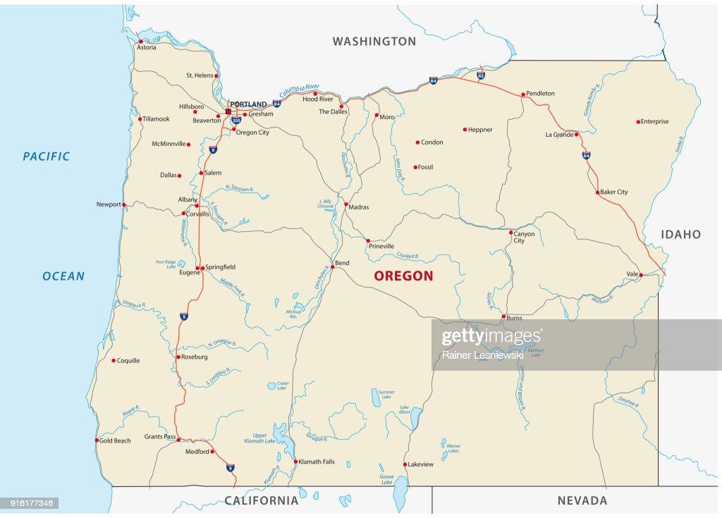 oregon road vector map