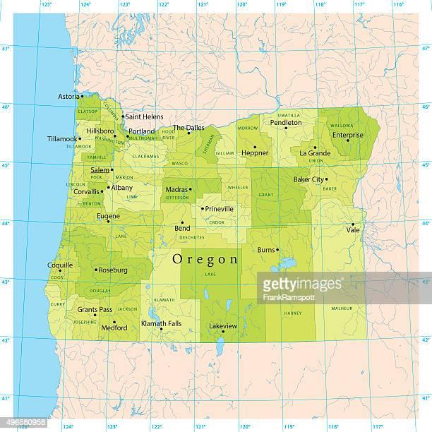 Oregon Vector Map