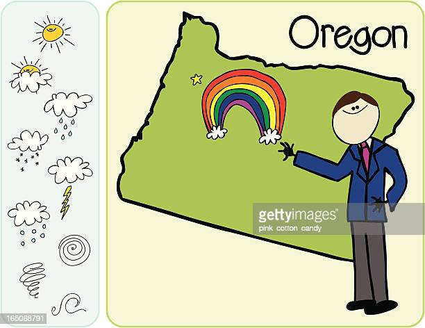 oregon weather man - hurricane stock illustrations, clip art, cartoons, & icons