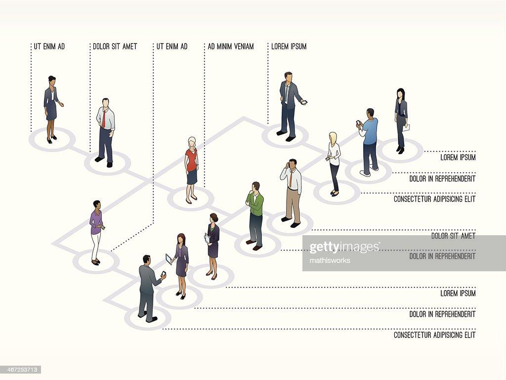 Org Chart Slide Template : stock illustration