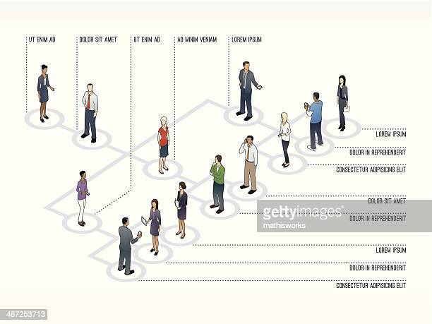 org chart slide template - conversion sport stock illustrations