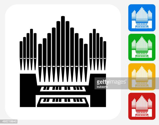 organ icon flat graphic design - bong stock illustrations