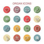 organ long shadow icons