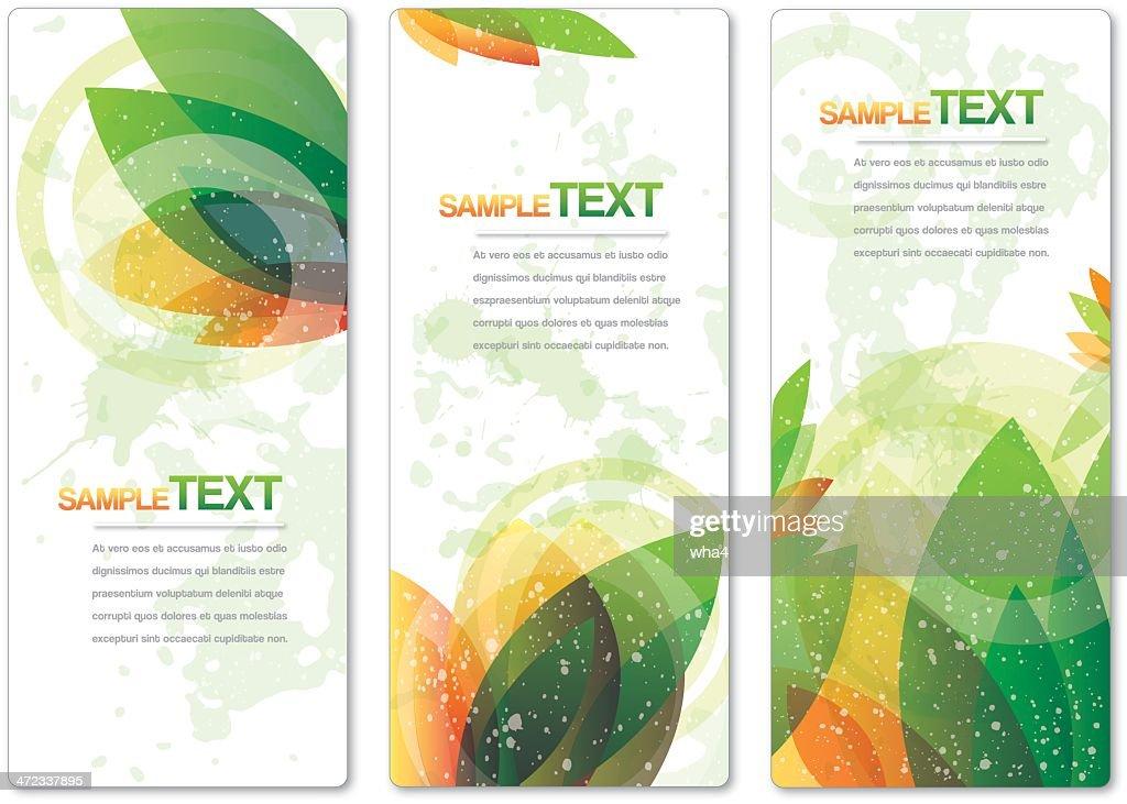 Organic Banners : stock illustration