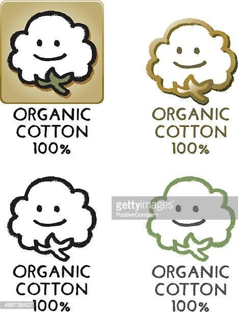 organic cotton 100 - cotton stock illustrations, clip art, cartoons, & icons