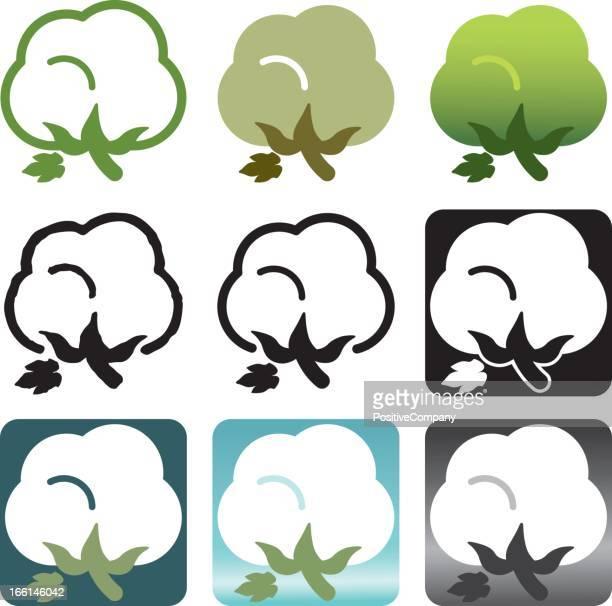 organic cotton icon - cotton stock illustrations, clip art, cartoons, & icons