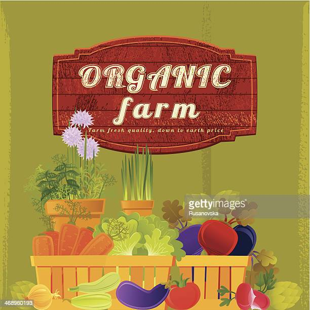 organic farm background - agricultural fair stock illustrations, clip art, cartoons, & icons