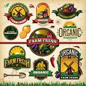 Organic Farm Fresh Label Set 2