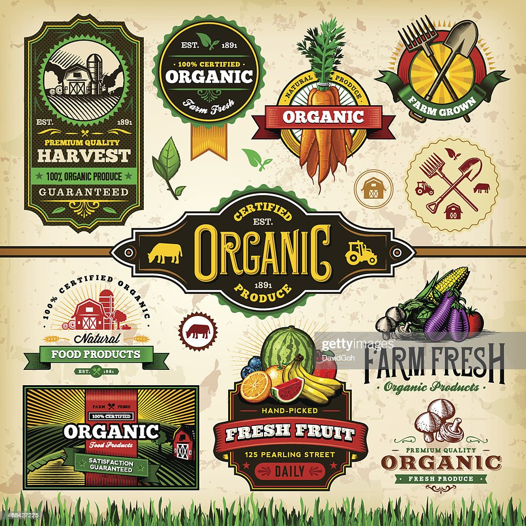 Organic Farm Fresh Label Set 3
