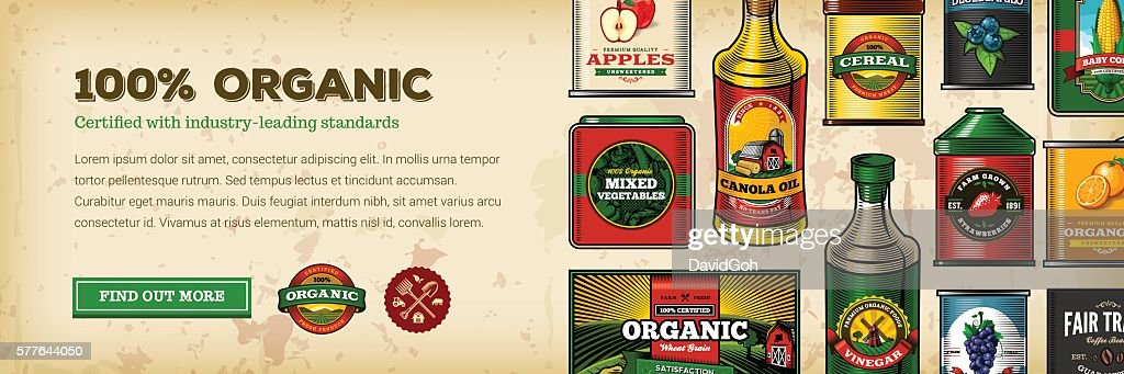 Organic Farm Fresh Web Banner