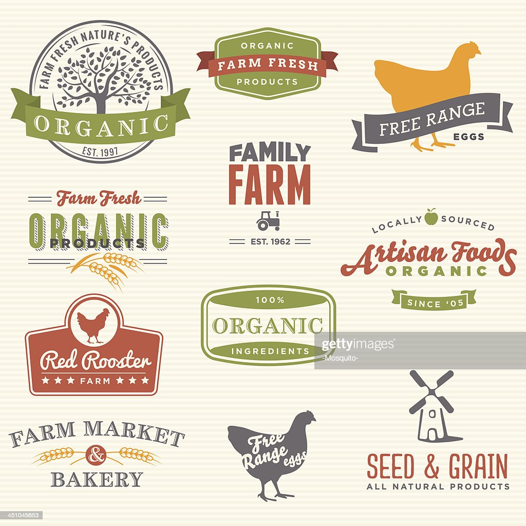 Organic Farm Labels