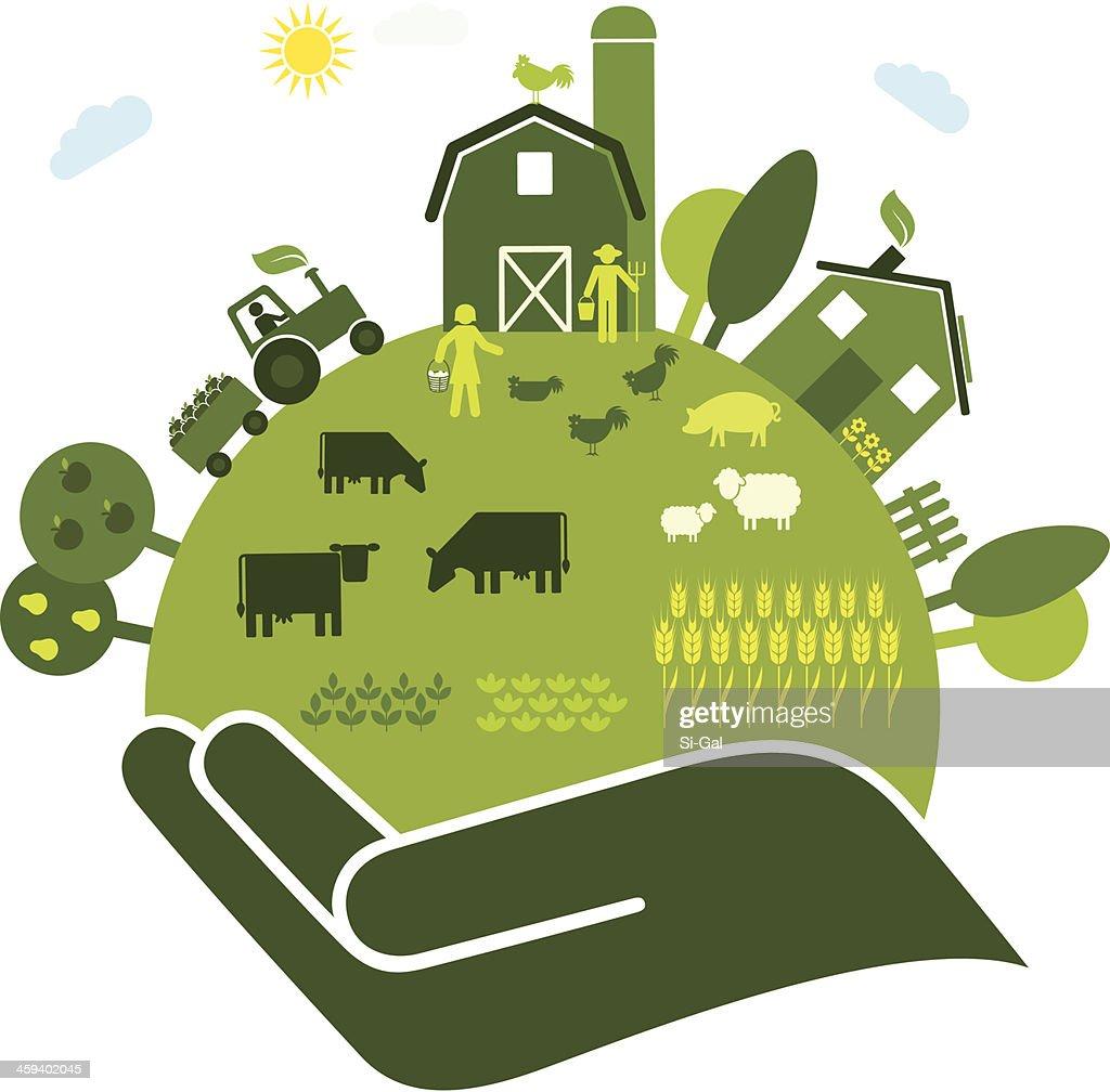 Organic Farming : Stock Illustration