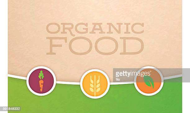 organic food and farming background - organic stock illustrations, clip art, cartoons, & icons